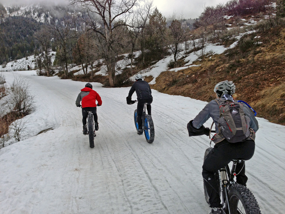 Berkley Hanks, Kevin Williams, Rob Brunt on the Mineral Fork in American Fork Canyon. Photo by Mike Rossberg