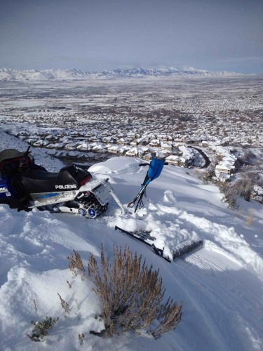 ThinAir Cycles is grooming Fat Bike Trails in Corner Canyon. This is a shot of Potato Hill. Photo by Mike Rossberg