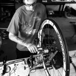 Mercury master wheel builder Mike Byrd. Photo by Chris Mogridge