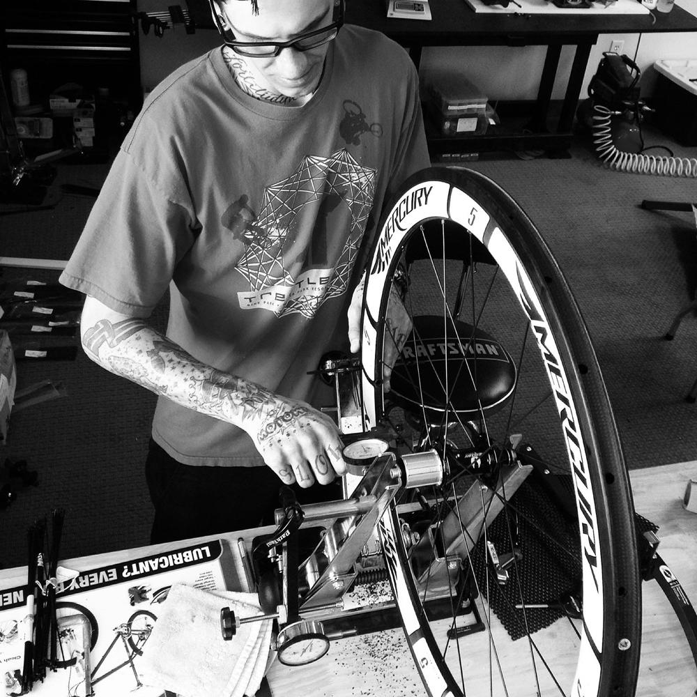 Mercury master wheel builder Mike Byrd.