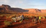 Bikepacking in Lockhart Basin, southwest of Moab, Utah.