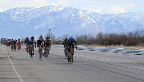 John Rech wins the C flite at the Rocky Mountain Raceways Criterium, March 12, 2016. Photo by Dave Iltis/Cycling Utah.