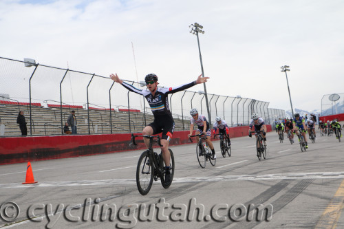 Michael Booth takes the win in the A's over Cortlan Brown on March 5, 2016 at the Rocky Mountain Raceways in West Valley City, Utah. Photo by Dave Iltis