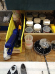 Bike repair supplies.