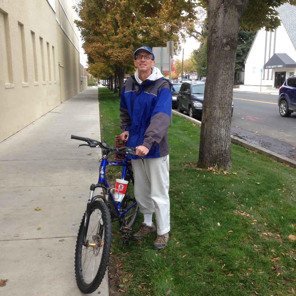 Richard Eborn lives a car-free lifestyle in Boise, Idaho.
