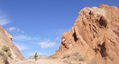 """There are many """"gates"""" to ride through in the Waterpocket Fold. Photo by Tom Diegel"""