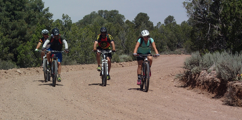 Riders in the 2015 Beaver Dam Gravel Grinder near Beaver Dam State Park, Nevada. Photo by Dawn Andone