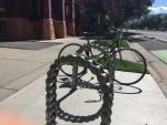 Cool new bike racks in Salt Lake City. Photo by Dave Iltis