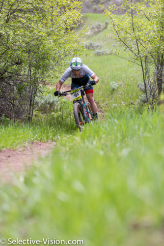 Justin Lindine on his way to winning the Pro-Men's Class at the Soldier Hollow Intermountain Cup race on May 7, 2016. Photo by Angie Harker; Selective-Vision.com