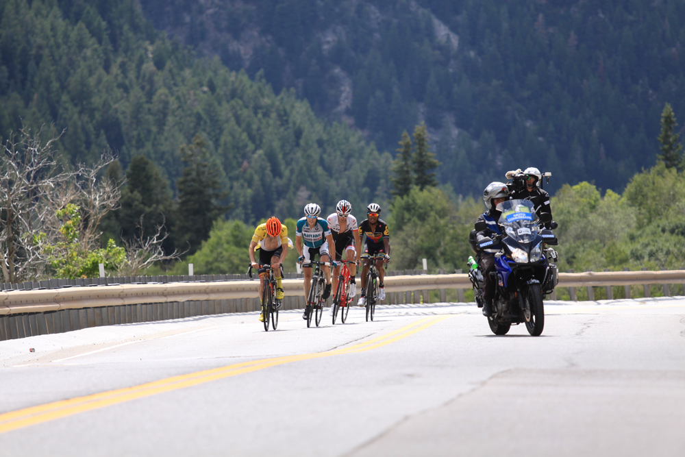 Action in the 2015 Tour of Utah in Little Cottonwood Canyon. Photo by Dave Iltis