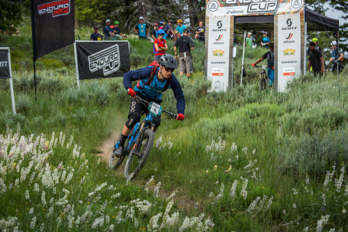 Macky Franklin races the Scott Enduro Cup at the Ride Sun Valley Festival which runs from June 23-26, 2016.