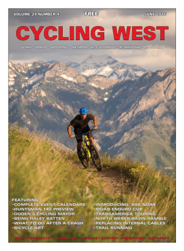 Cover Photo: Galen Carter riding the Bonneville Shoreline Trail on May 26, 2016. Photo by Wray Sinclair; www.wraysinclair.com