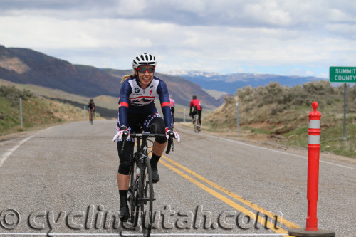 Mindy McCutcheon winning the 2016 East Canyon Echo Road Race on April 16, 2016. The Utah rider is transferring from Canyon Bicycles Shimano to the Visit Dallas DNA Cycling UCI team for the rest of this season and next. Photo by Dave Iltis