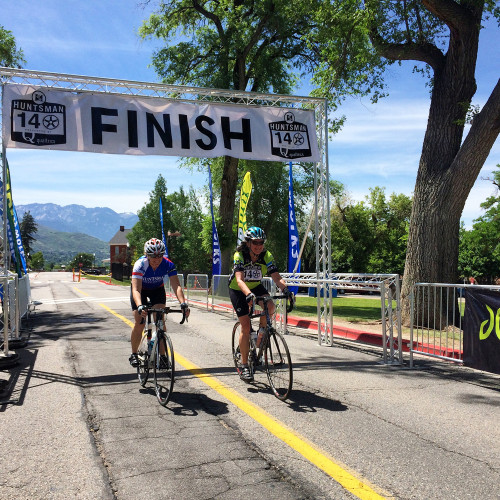 2 riders finish the Huntsman 140 in 2015.  Photo by Dave Iltis