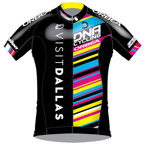 The 2016 Visit Dallas DNA Pro Cycling jersey.