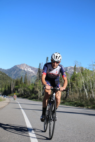Cortlan Brown won the 2016 Porcupine Big Cottonwood Hill Climb with a time of 1:02:06.