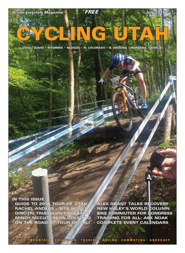 Cover Photo: Utah's Haley Batten (Luna Chix and USA Cycling National Team) on the fun and fast descent in the UCI Junior Series XCO in Albstadt, Germany on May 21, 2016. Photo by Annette Friebe