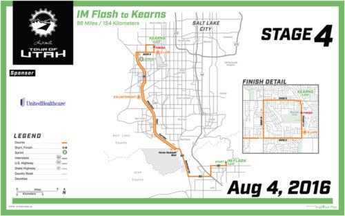 2016 Tour of Utah Map - Stage 4