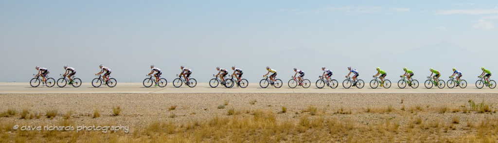 The peloton stretches out single file along Moutain View Corridor Hwy, Stage 4, 2016 Tour of Utah. Photo by Dave Richards, daverphoto.com