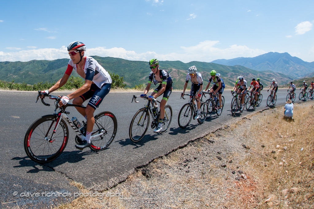 Drillin' the climb on Mt. Nebo, Stage 3, 2016 Tour of Utah. Photo by Dave Richards, daverphoto.com