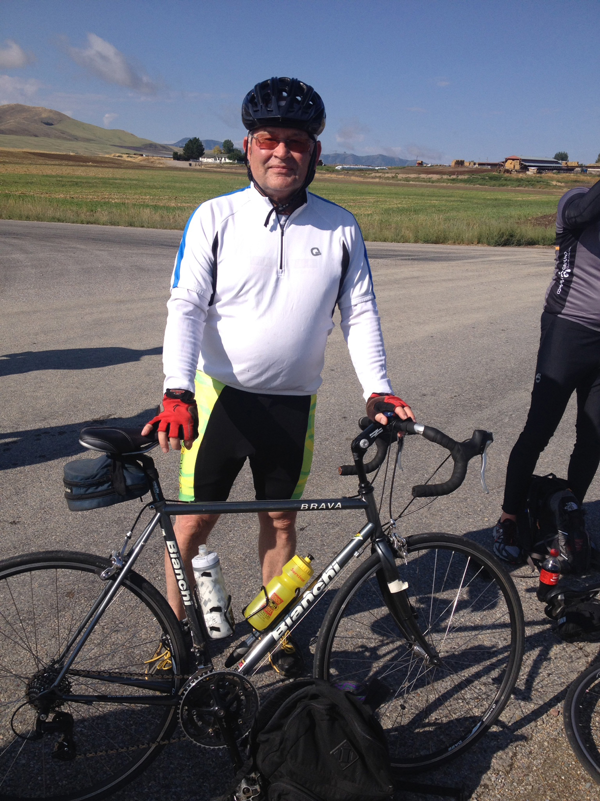 Steve Chambers at the Cache Valley Century Ride. Photo courtesy Steve Chambers
