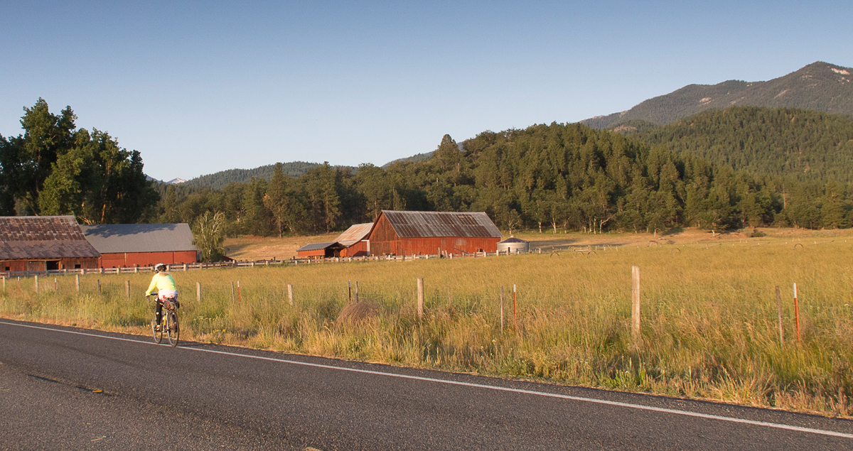 Heading South on Highway CA3 in early morning. Photo by Howard Shafer