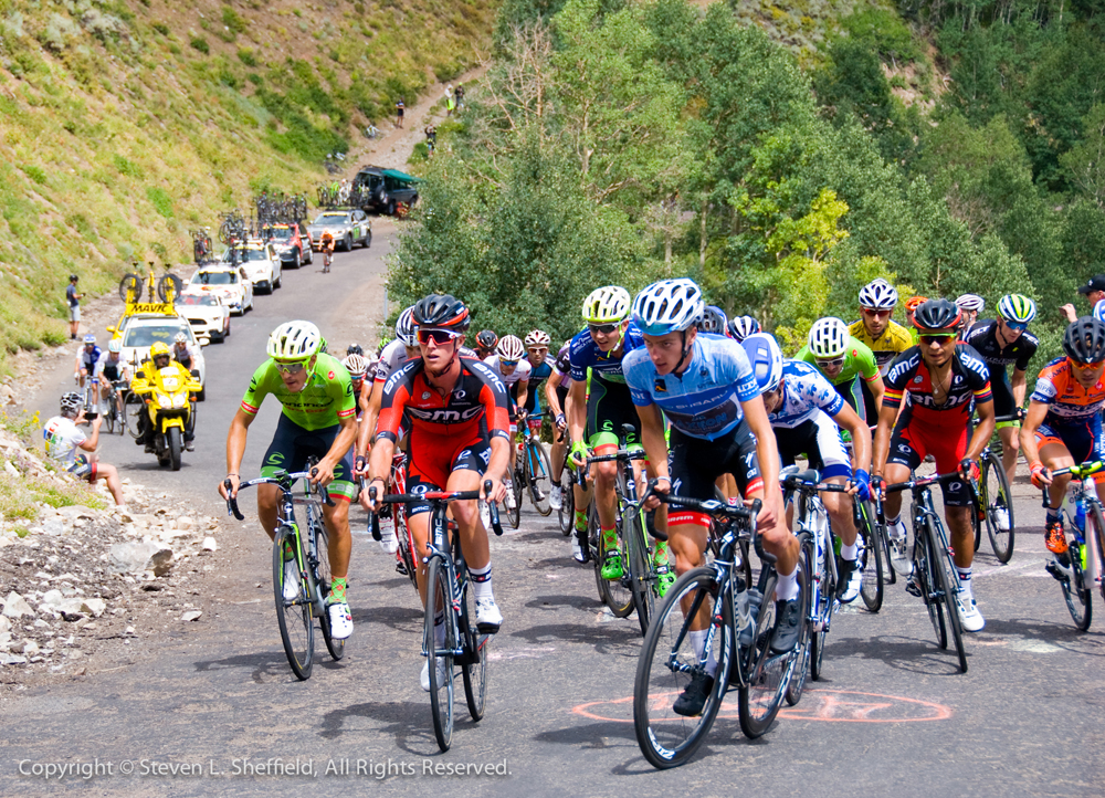 The main contenders hit the top of Guardsman Pass in the 2016 Tour of Utah Stage 6. Photo by Steven Sheffield, flahute.com