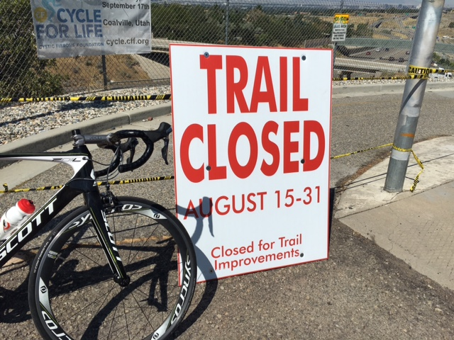 The PRATT trail crossing of I-80 will be closed during August 15-20, and August 29-September 2, 2016. Photo by Steve Smock
