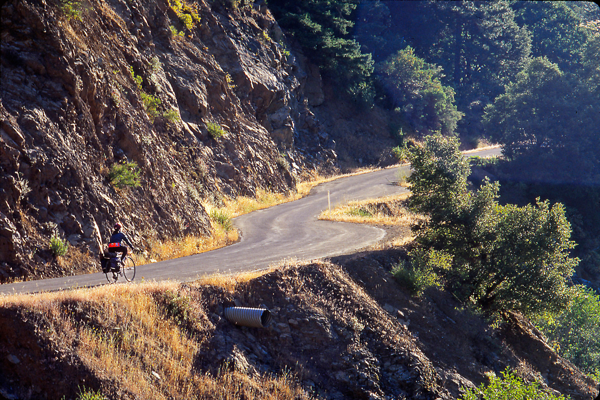Beautiful riding along the North Fork of the Salmon River. Photo by Howard Shafer