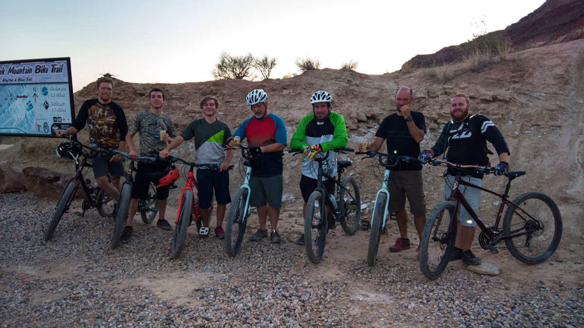 The crew after a good comfing session. Photo by Lukas Brinkerhoff