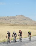 The Ride for the Kids travels around Antelope Island. Photo by Jeff Hodges