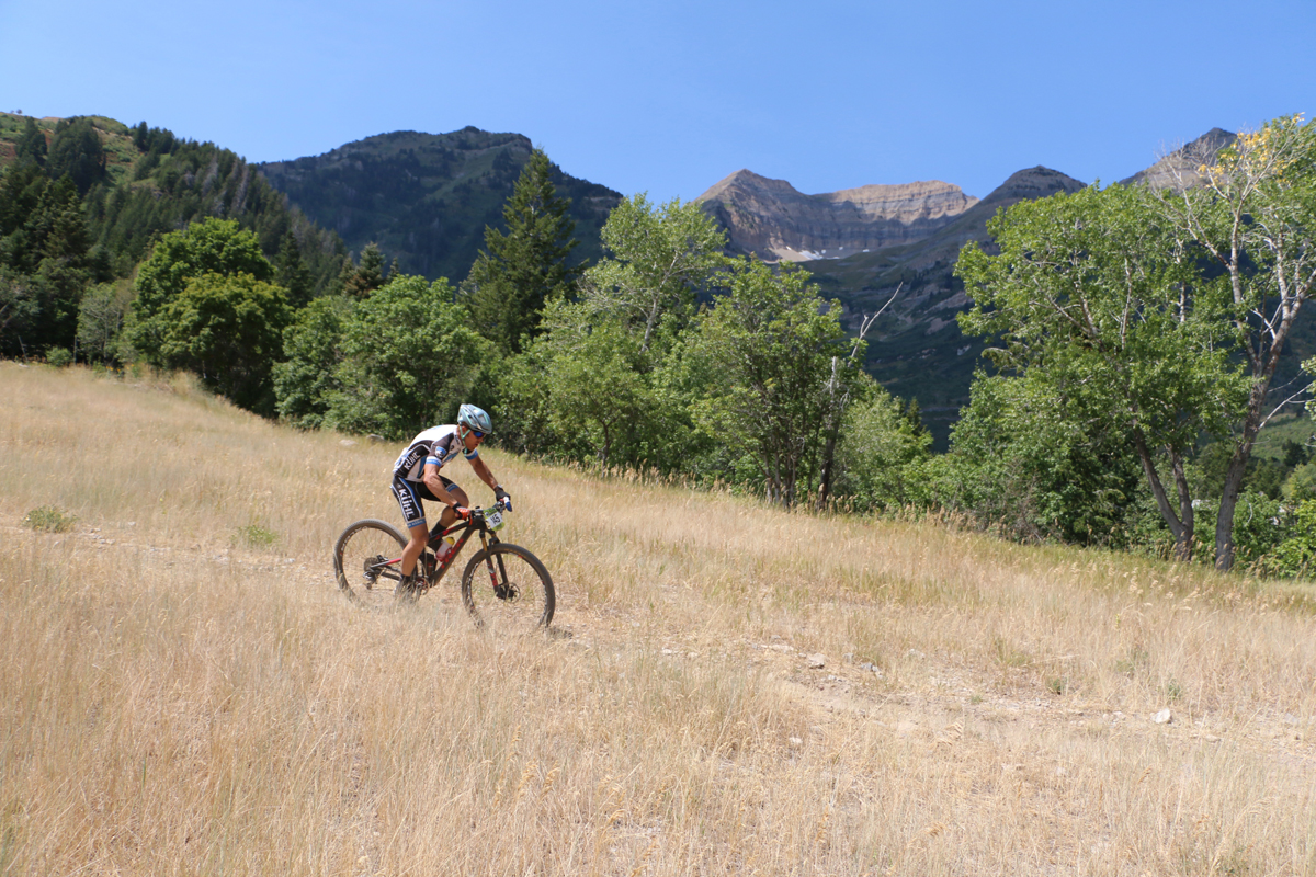 Chris Holley (Kühl Cycling) won the ICUP Endurance XC Series and finished second in the XC series. Here, he's on his way to second place at the Sundance Intermountain Cup on August 13, 2016. Photo by Dave Iltis