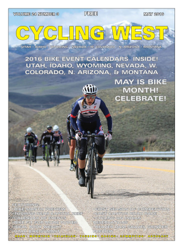 Cover Photo: Mindy McCutcheon (Canyon Bicycles Shimano) on the front in the Pro/1/2/3 women's category at the East Canyon Echo Road Race on April 16, 2016.. Photo by Dave Iltis. Find a complete photo gallery at gallery.cyclingutah.com