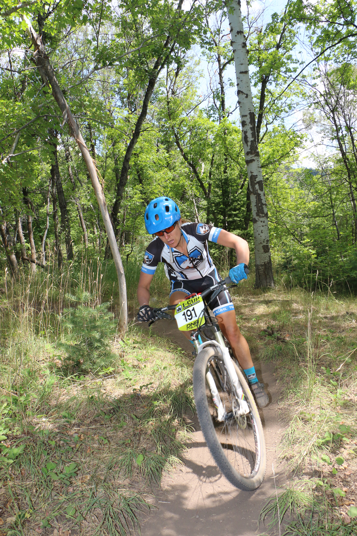 KC Holley (Kühl Cycling) won both the XC and Endurance XC series in the 2016 Intermountain Cup. She is shown here on her way to second place in the Sundance Intermountain Cup on August 13, 2016. Photo by Dave Iltis
