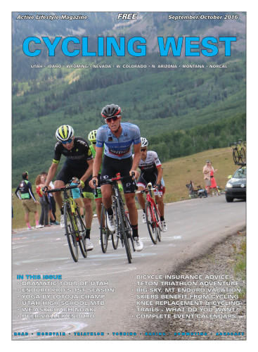 Cover Photo: TJ Eisenhart leads Rob Squire over Empire Pass on stage 7 of the 2016 Tour of Utah. The two Utah riders finished 7th and 9th overall respectively. Photo by Dave Iltis
