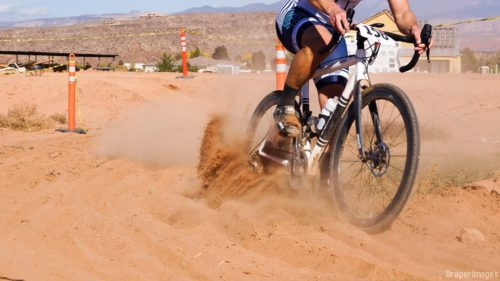 Sand! at the Southern Utah Cyclocross Series. The 2016 Utah State Championship is coming on Nv. 27th to Staheli Farm in St. George. Photo by Draper Images