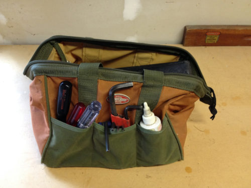 Doctor's bag for bicycle tools