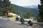 Resting at the Kaiser Pass Summit. Photo by Howard Shafer