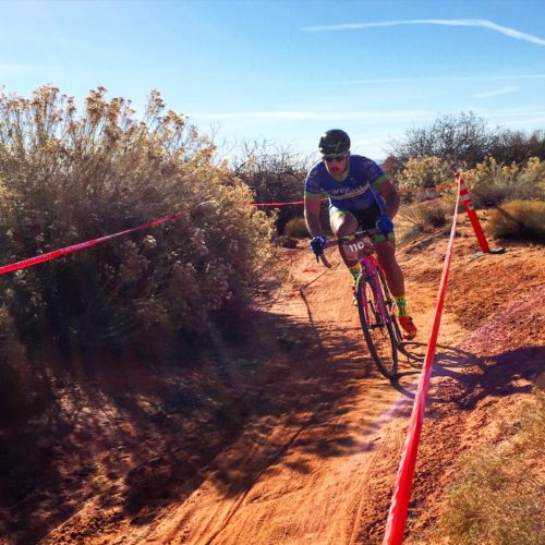 Action at the Southern Utah Cyclocross Series. The 2016 Utah State Championship is coming on Nv. 27th to Staheli Farm in St. George. Photo by Crawlingspider.com
