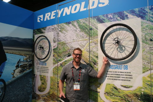 Reynolds Cycling's Joss Dewaele at Interbike 2016. Photo by Dave Iltis