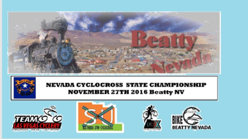 The flier for the 2016 Nevada State Cyclocross Championships.