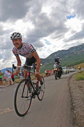 Lachlan Morton crushing the final climb to Empire Pass in stage 7 of the 2016 Tour of Utah. Morton would go on to win the stage and the overall win; reclaiming the lead from Andrew Talansky on the last day of the race. Photo by Dave Iltis
