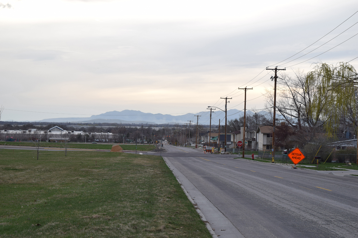 View of the intersection of North Street and Monroe Boulevard. Construction equipment can be seen in the far distance preparing North Street for reconstruction. Photo by Turner Bitton