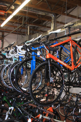 Saturday Cycles sells bikes that are intended to last and to make the purchaser a live long cyclist. Photo by Dave Iltis