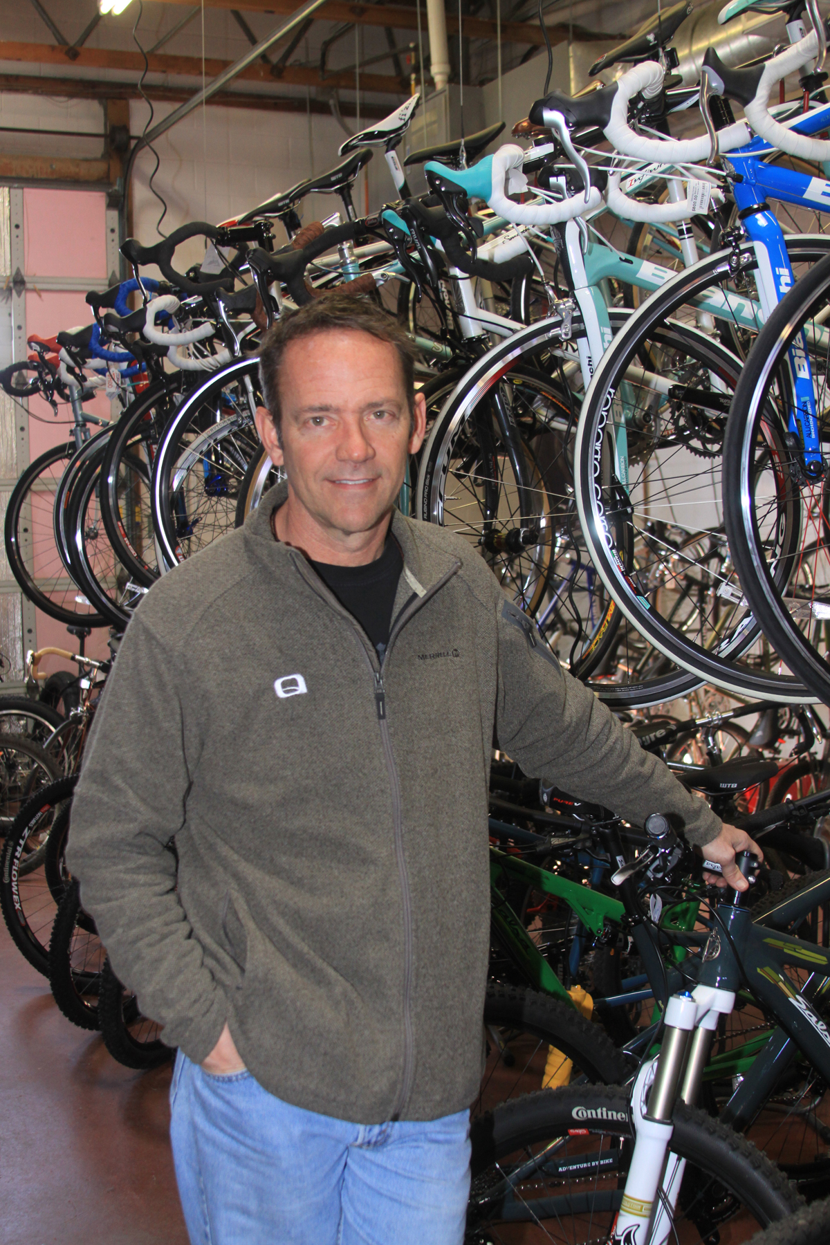Mark Kennedy, owner of Salt Lake City's Saturday Cycles. Photo by Dave Iltis