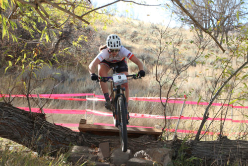 The Utah High School Mountain Bike League is one of the top high school leagues in the country. This image of Elisse Shuman is from the race at Soldier Hollow, Utah on October 22, 2016 Photo by Dave Iltis
