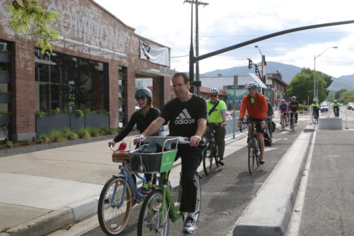 Bike to Work Day in Salt Lake City is on May 23, 2017. National Bike to Work Day is May 19, 2019. Photo by Dave Iltis