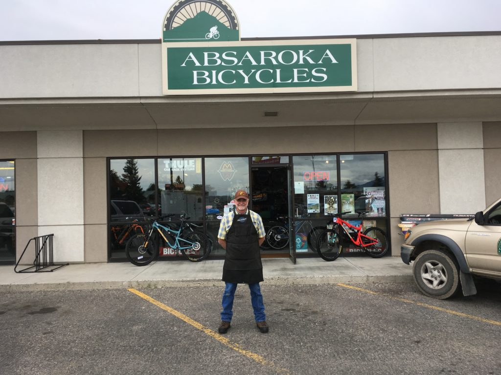 Rick Roach of Absaroka Bicycles in Cody Wyoming is retiring and selling the shop. Photo courtesy Rick Roach