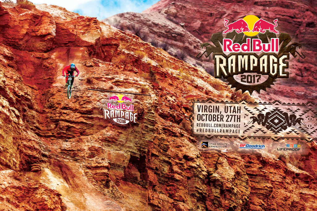 The Red Bull Rampage will return to Virgin, Utah on October 27, 2017. Graphic courtesy Red Bull.