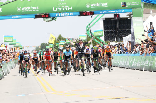 John Murphy of Holowesko takes the win! Stage 4 of the 2017 Tour of Utah, South Jordan to Cedar Fort and back to South Jordan, Photo by Cathy Fegan-Kim, cottonsoxphotography.net